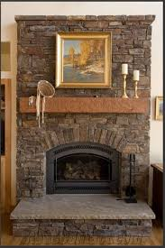 interior add wall lamp above oak fireplace mantel decor in