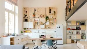 decorating ideas white scandinavian kitchen open shelving design