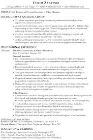 Sample Payroll Resume by Resume Examples Personal Assistant Resume Templates Executive