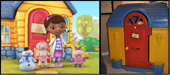 doc mcstuffins playhouse diy project repainted plastic fisher price little tikes outdoor