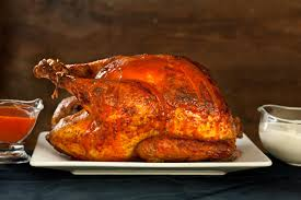 how to season the turkey for thanksgiving buffalo roasted turkey with blue cheese sauce recipe chowhound
