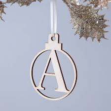 personalised letter bauble baubles initial