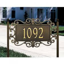 decorative address plaque for home home decor