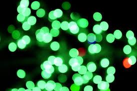 christmas green christmas lights aglow royalty free stock photo