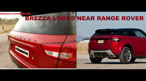 range rover modified red brezza modified roof black seat cover blue foot light youtube