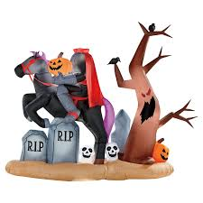 Gemmy Halloween Inflatable by Amazon Com Gemmy 9ft X 7 Ft Halloween Animated Headless Horseman