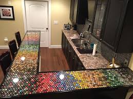 Creative Bar Tops Man Collects Bottle Caps For 5 Years To Redo His Kitchen Veriy