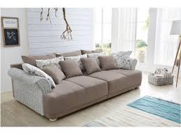 canapé en tissu design canapé design en tissu marron clair humi 260 cm avec ottoman