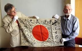 Flag Carrier Of Japan 93 Year Old Wwii Veteran Brings Back Japanese Flag To Family Of