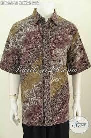 desain baju batik pria 2014 baju batik ukuran besar 5l hem batik pria gemuk sekali model lengan