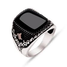 silver ring for men black onyx sterling silver men s ring ottasilver
