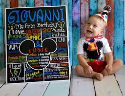 mickey mouse 1st birthday boy mickey mouse birthday chalkboard 1st birthday