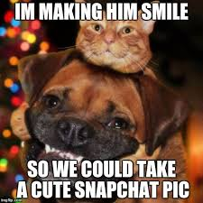 Cute Memes For Him - im making him smile so we could take a cute snapchat pic