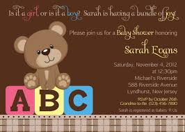 design teddy bear baby shower invitations