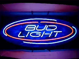 bud light lighted sign my beer sign collection