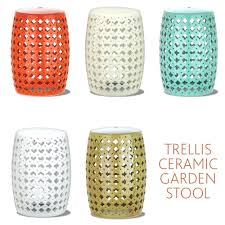 side table garden stool side table ceramic adds a pop of color