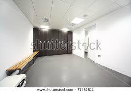 empty bright modern cloakroom gym many stock photo 516832741