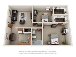 floor plans forest village and woodlake student living two bed one bath floor plan