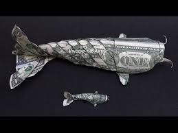 Origami Koi Fish Dollar Bill - foot money origami koi fish dollar bill