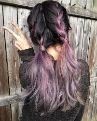 metallic mauve hair color by bescene cute country braids by