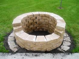 Firepit Stones Pit Stones Lowes Fireplaces Firepits Building