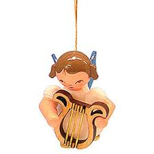 tree ornament with violin blue wings floating 5 5 cm