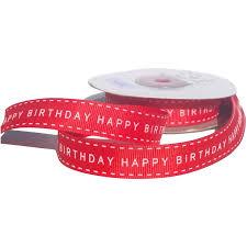happy birthday ribbon grosgrain ribbon printed happy birthday per roll haberdashery