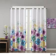 Blue Floral Curtains Floral Curtains Drapes For Less Overstock
