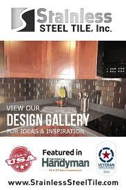 Kitchen Backsplash Stainless Steel Tiles Amazing 30 Metal Tile Kitchen Design Inspiration Of Tags