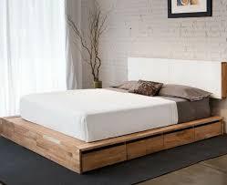 Simple Platform Bed Frame Bedroom Impressive Storage King Bed Frame For Platform Simple