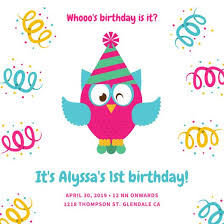1st birthday 1st birthday invitation templates canva