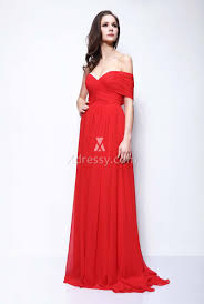 camilla belle red chiffon sweetheart one shoulder prom or