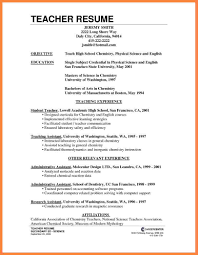 teaching objective for resume science teacher resume free resume example and writing download how to make cv for teaching job high school teacher resume