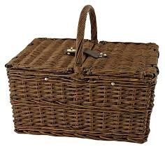 amazon com seaside cape cod wicker picnic basket by twine picnic