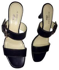 anne klein black silver ak amberlynn sandals size us 7 5 regular