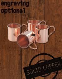 mini mule copper glasses 4 pack moscow mule copper mugs