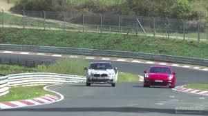 2018 bmw x2 spied overtaking porsche panamera on the nurburgring