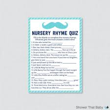 nursery rhyme baby shower mustache baby shower nursery rhyme quiz baby shower in