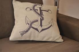 theme pillows 18inch nautical theme linen throw pillow sofa cushion cover