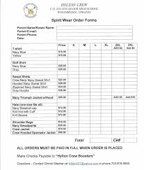 clothing order form template free besttemplates123 sample