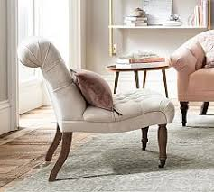 Tufted Chair And A Half Upholstered Chairs U0026 Slipcovered Chairs Pottery Barn