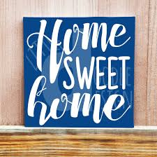 home sweet home hand painted canvas canvas quote art wall decor