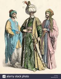 Ottoman Officials Turkish Sultan And Officials Of The Ottoman Empire Stock Photo