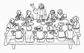 Jesus Share A Meal In The Last Supper Colouring Page Colouring Pics Last Supper Coloring Page