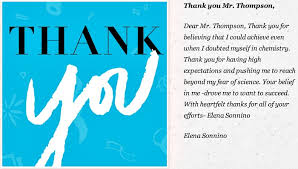 thank you cards for teachers best thank you card teach for america