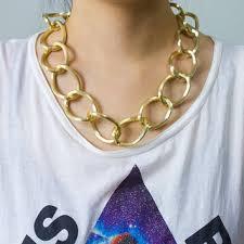 large gold link necklace images Shop gold large link necklace on wanelo jpg