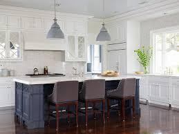navy island kitchen traditional with blue and white kitchen