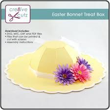 easter bonnet easter bonnet treat box paper craft project cre8ive cutz