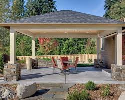 Backyard Covered Patio Ideas Brilliant Detached Patio Cover Plans Designs Covers 1000 Images