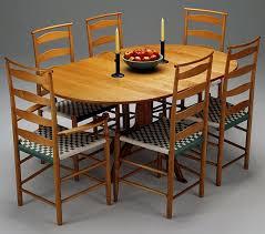 Shaker Pedestal Dining Table Dining Room Shaker Workshops - Shaker dining room chairs